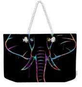 Elephant Watercolors - Black Weekender Tote Bag