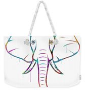 Elephant Watercolors - White Background Weekender Tote Bag