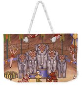 Elephants And Acrobats Weekender Tote Bag