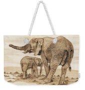 Elephants Weekender Tote Bag