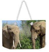 Elephants In The Sand Weekender Tote Bag