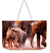 Elephants Stampede Weekender Tote Bag