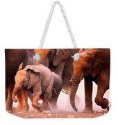 Elephants Stampede Weekender Tote Bag