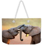 Elephants Touching Each Other Weekender Tote Bag