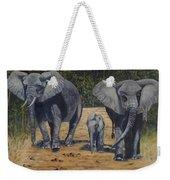 Elephants With Calf Weekender Tote Bag