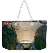 Elevated View At Dusk Of Hoover Dam Weekender Tote Bag
