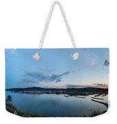 Elevated View Of A Harbor At Sunset Weekender Tote Bag