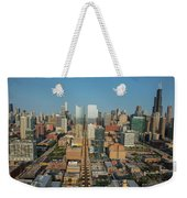 Elevated View Of Cityscape, Lake Street Weekender Tote Bag