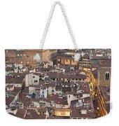 Elevated View Of Florence Weekender Tote Bag