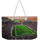 Elevated View Of Gillette Stadium, Home Weekender Tote Bag