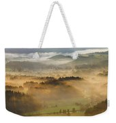 Elevated View Of Trees On Hill Weekender Tote Bag