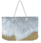 Elevated View Of Waves In Motion, Playa Weekender Tote Bag