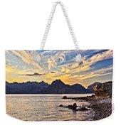 Elgol Beach At Sunset Weekender Tote Bag