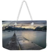Elgol Pier And Boats With Cuillin Weekender Tote Bag