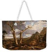 Elijah In The Desert Weekender Tote Bag