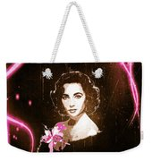 Elizabeth Taylor - Pink Film Weekender Tote Bag by Absinthe Art By Michelle LeAnn Scott