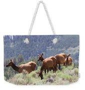 Elk Family - Yellowstone N P Weekender Tote Bag