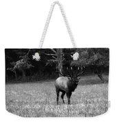 Elk In Black And White Weekender Tote Bag
