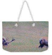 Elk On The Plains 1 Weekender Tote Bag