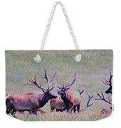 Elk On The Plains 2 Weekender Tote Bag