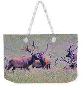 Elk On The Plains 3 Weekender Tote Bag
