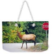 Elk Right Of Way Weekender Tote Bag