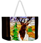 Elk Stained Glass Window Weekender Tote Bag