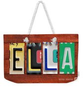 Ella License Plate Name Sign Fun Kid Room Decor. Weekender Tote Bag