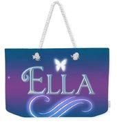 Ella Name Art Weekender Tote Bag