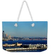 Elliot Bay Panorama Weekender Tote Bag