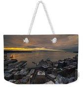 Elliott Bay Seattle Evening Weekender Tote Bag