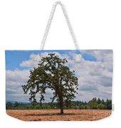 Elm Tree In Hay Field Art Prints Weekender Tote Bag