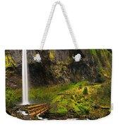 Elowah Falls Panorama -  Columbia River Gorge In Oregon Weekender Tote Bag