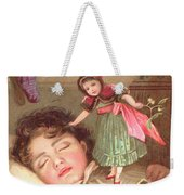 Elves Delivering Christmas Gifts Weekender Tote Bag by English School