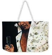 Elvis Presley Painting Weekender Tote Bag