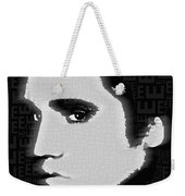 Elvis Presley Silhouette On Black Weekender Tote Bag