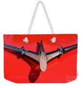 Emblem On Red Weekender Tote Bag
