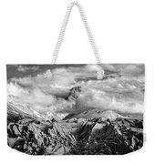 Embraced By Clouds Black And White Weekender Tote Bag