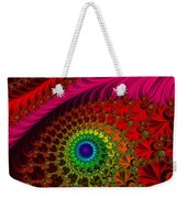 Embroidered Silk And Beaded Square Weekender Tote Bag