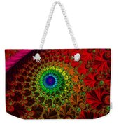 Embroidered Silk And Beads - Horizontal Weekender Tote Bag