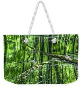 Emerald Reflections Weekender Tote Bag