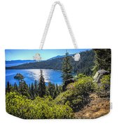 Emerald Bay Lake Tahoe California Weekender Tote Bag