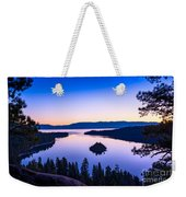 Emerald Bay Sunrise Weekender Tote Bag