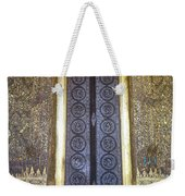 Emerald Buddha Temple Door Weekender Tote Bag