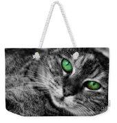 Emerald Eyes Cat  Weekender Tote Bag
