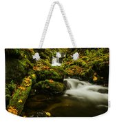 Emerald Falls In Columbia River Gorge Oregon Usa Weekender Tote Bag
