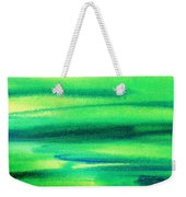 Emerald Flow Abstract I Weekender Tote Bag