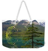 Emerald Lake Reflection And Pine Tree In Yoho National Park-british Columbia-canada Weekender Tote Bag