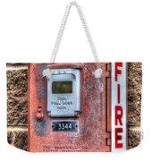 Emergency Fire Box Weekender Tote Bag