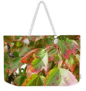 Emerging Red Weekender Tote Bag
